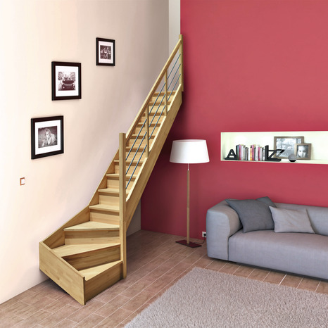 escalier droit largeur 70 cm