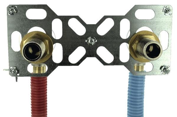 Syst me de fixation de robinet pour tube per 16 mm for Robinet exterieur per