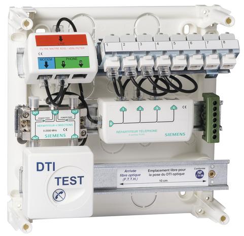 Coffret de communication 8rj45 brico d p t for Antenne tnt exterieur brico depot