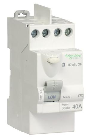 interrupteur diffrentiel automatique idclic 30 ma 40a type ac schneider brico dpt - Differentiel Pour Salle De Bain