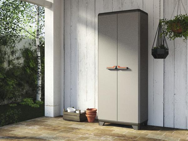 armoire haute stilo avec 3 tablettes 60 kg maxi brico d p t. Black Bedroom Furniture Sets. Home Design Ideas