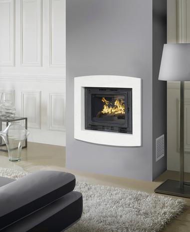 habillage de foyer roanne blanc en pierre naturelle 70x80. Black Bedroom Furniture Sets. Home Design Ideas