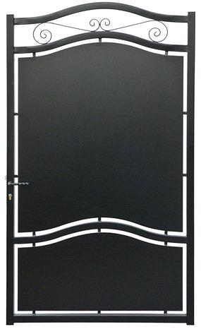 Portillon Fer Noir Glasgow L 1 04 X H 2 10 M Brico Depot