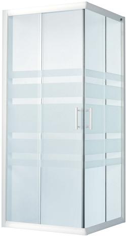 Acc s d 39 angle pour porte coulissante verre d poli lagon h for Paroi de douche brico depot