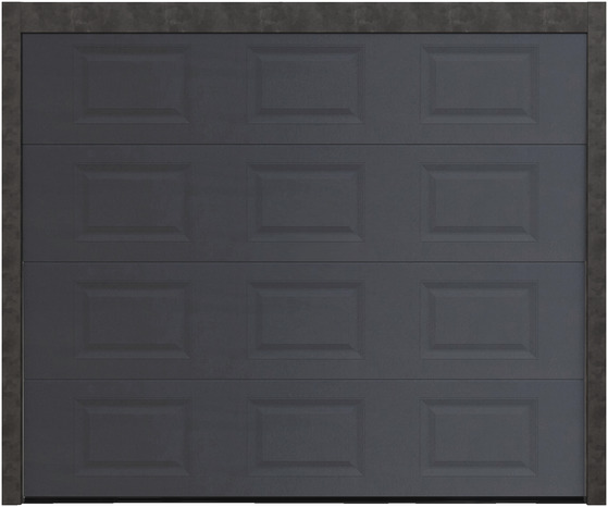 portes de garage motoris es acier la porte de garage grise le moteur brico d p t. Black Bedroom Furniture Sets. Home Design Ideas