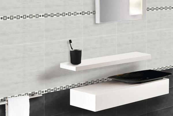 Carrelage roma grigio gris en fa ence 20x40 cm brico d p t - Revetement mural pour wc ...