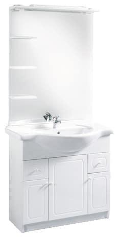 MAJORCA Blanc Laqué X Cm Brico Dépôt - Meuble de salle de bain brico depot