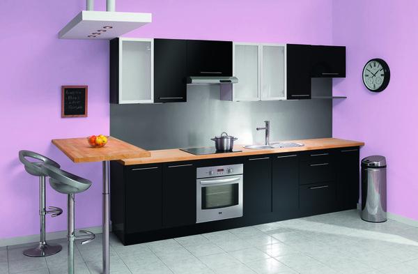 Evier cuisine noir evier encastrer eole 2 cuves couleur for Cuisine facade noire