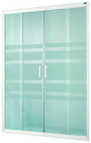 Porte coulissante lagon verre d poli h 185 cm l 140 cm for Porte coulissante salon 140 cm