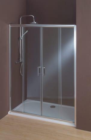 porte coulissante lagon verre transparent h 185 cm l 140 cm krone brico d p t. Black Bedroom Furniture Sets. Home Design Ideas
