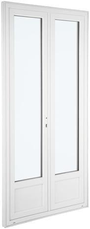 Fenêtre En PVC Vantaux L X H Cm UW Brico Dépôt - Porte de garage sectionnelle avec brico depot porte fenetre pvc