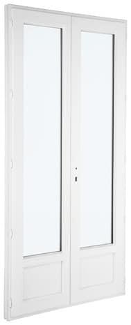 Porte Fenêtre Pvc Blanc 2 Vantaux Larg 120 X Haut 215 Cm Uw12