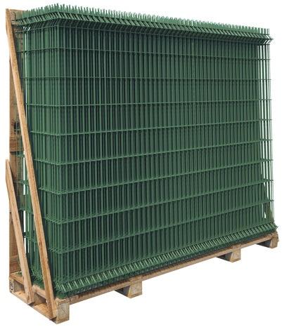 Panneau Rigide Acier Galvanise Confort Vert L 2 X H 1 23 M