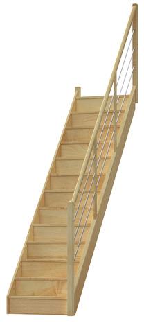 escalier droit hetre bricoman