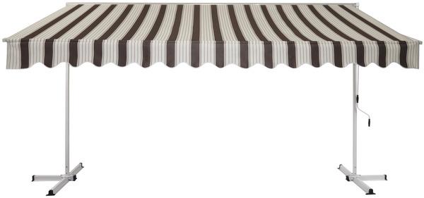 store banne manuel double pente toile polyester 220 g m l 3 95 x l 3 m brico d p t. Black Bedroom Furniture Sets. Home Design Ideas