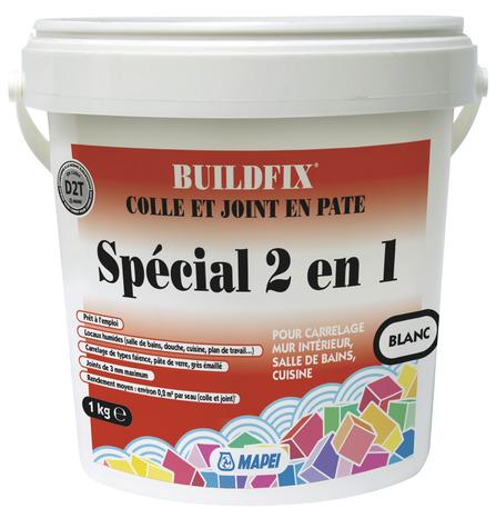Colle et joint 2 en 1 d2t blanc magasin de bricolage for Carrelage special garage