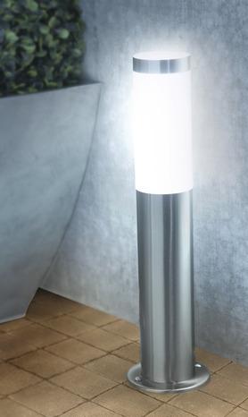 Borne inox borne 45 cm brico d p t for Borne eclairage exterieur avec prise de courant
