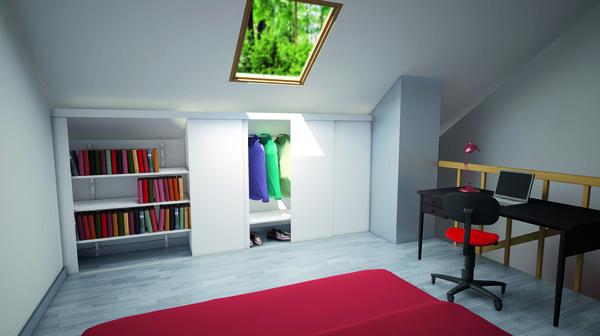 pack portes sous pentes blanche en ppsm h 120 cm l 120 cm brico d p t. Black Bedroom Furniture Sets. Home Design Ideas