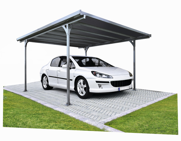 carports aluminium le carport brico d p t. Black Bedroom Furniture Sets. Home Design Ideas