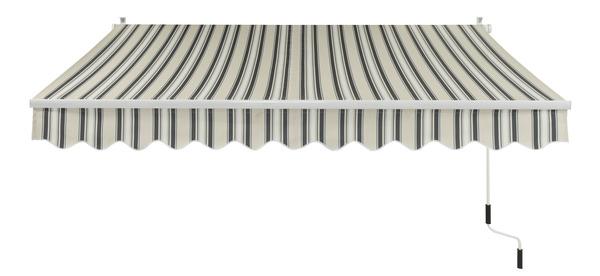 store banne manuel toile polyester 300 g m l 3 x l 2 5 m brico d p t. Black Bedroom Furniture Sets. Home Design Ideas