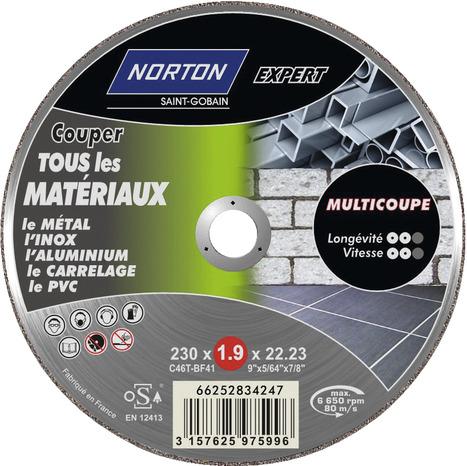 disque multi coupe pour m tal inox aluminium carrelage et pvc 115 mm brico d p t. Black Bedroom Furniture Sets. Home Design Ideas