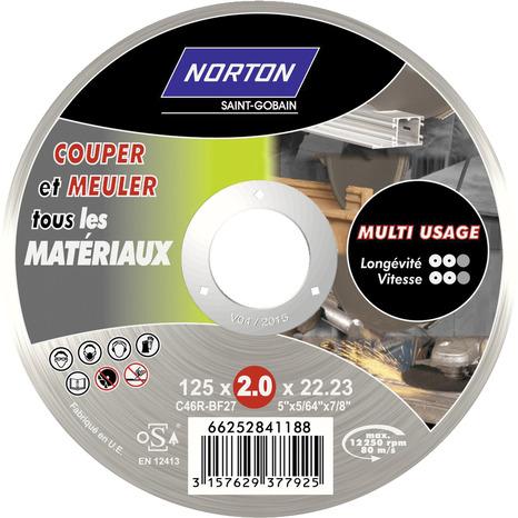 disque multi coupe pour m tal carrelage plastique et aluminium 125 mm brico d p t. Black Bedroom Furniture Sets. Home Design Ideas