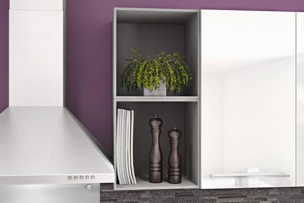 caisson cube blanc l 35 x h 35 x p 30 cm brico d p t. Black Bedroom Furniture Sets. Home Design Ideas