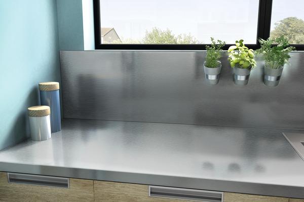 plan de travail rev tu aluminium 3 m brico d p t. Black Bedroom Furniture Sets. Home Design Ideas