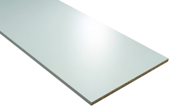 Tablette m lamin e blanc perle brico d p t for Brico depot panneau melamine