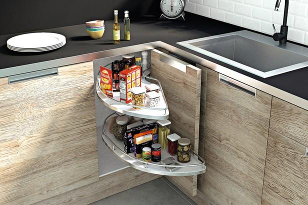 Rangement space angle gauche caisson 1 20 m brico d p t for Tiroir angle cuisine