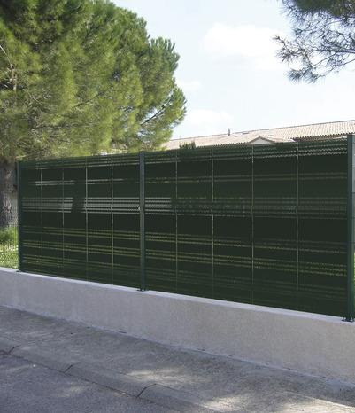 Occultant Pour Panneau De Grillage En Acier Galvanis H 1 65 M L 50 Cm Colori Vert Mousse