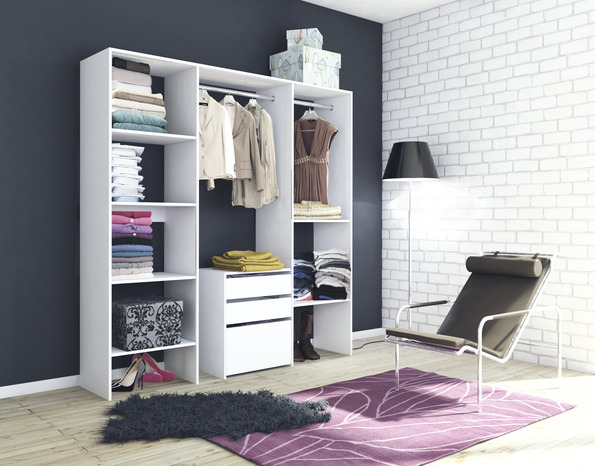 am nagement de placard blanc brico d p t. Black Bedroom Furniture Sets. Home Design Ideas