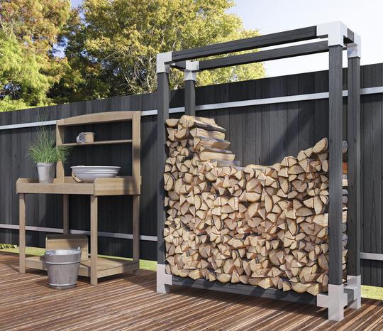 pour poteaux bois angle simple - brico dépôt