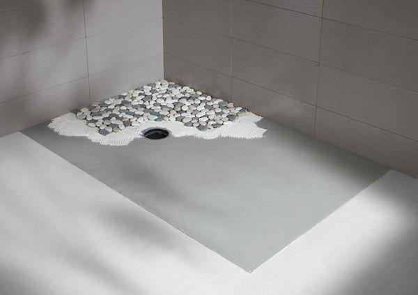 plaque de galets ronds mix gris blanc beige sur filet brico d p t. Black Bedroom Furniture Sets. Home Design Ideas
