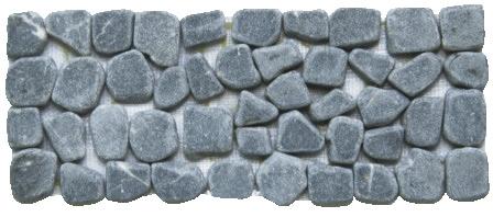Listel galets gris sur filet magasin de bricolage brico for Carrelage sur filet