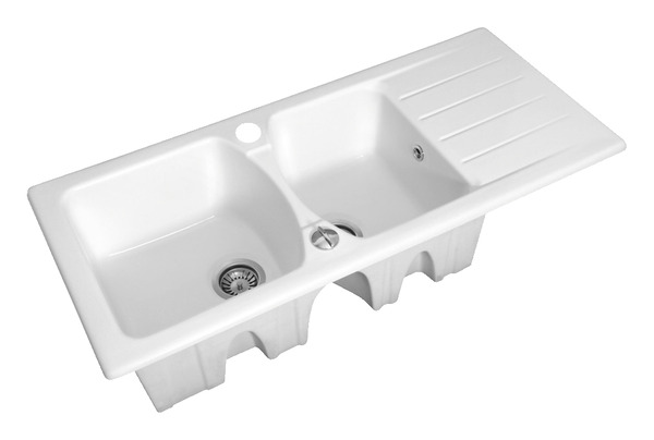 Evier Gres 2c Blanc L Evier 2 Cuves Brico Depot