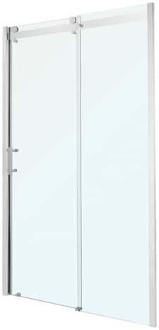 Porte coulissante atoll verre transparent h 195 cm l 120 for Porte exterieur brico depot