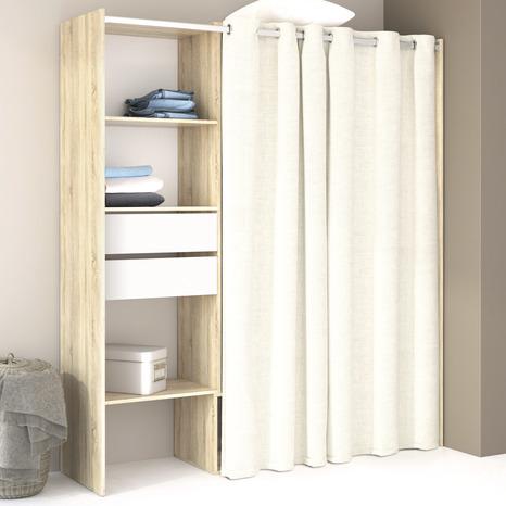 interesting dressing h x l de x p cm avec rideau brico dpt with kit dressing rideau. Black Bedroom Furniture Sets. Home Design Ideas