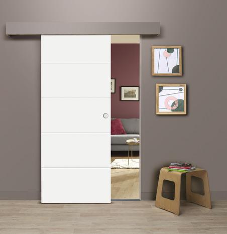 syst me coulissant en applique porte brico d p t. Black Bedroom Furniture Sets. Home Design Ideas