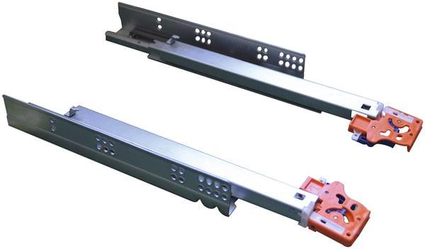 2 coulisses amortisseur en acier zingu pour tiroir en bois mm brico d p t. Black Bedroom Furniture Sets. Home Design Ideas