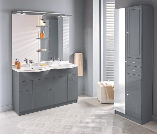 meuble majorca gris 130 cm le plan vasque brico d p t. Black Bedroom Furniture Sets. Home Design Ideas
