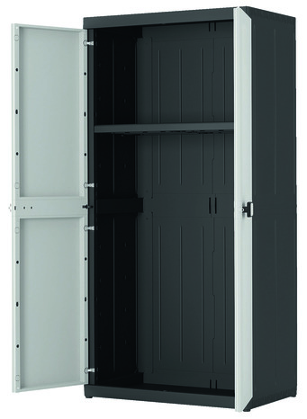 armoire haute en r sine 1 tablette charge max 50 kg. Black Bedroom Furniture Sets. Home Design Ideas