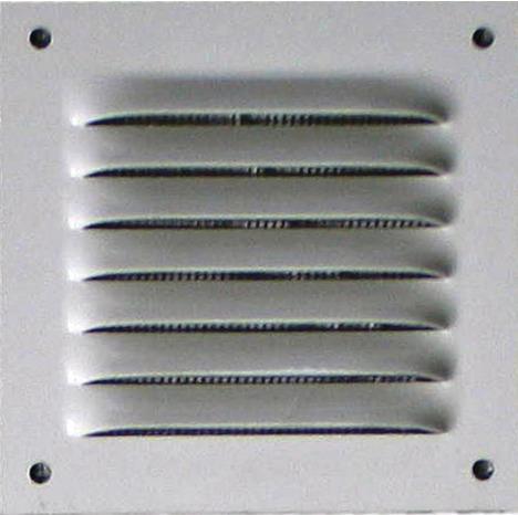 Grille Metal Carree Alu Blanc 100 X 100 Mm