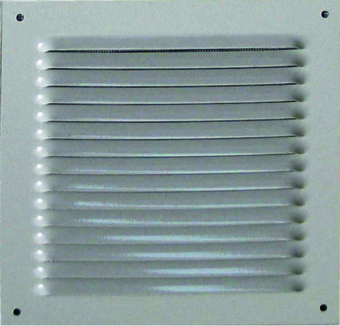 Grille metal carree alu blanc 100 x 100 mm brico d p t for Grille aeration brico depot