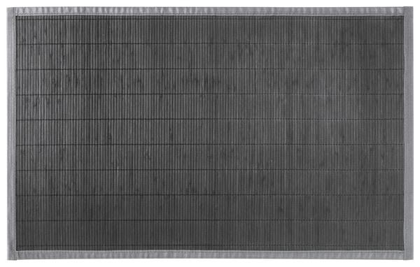 tapis de bain gris en bambou 50x80 cm brico d p t. Black Bedroom Furniture Sets. Home Design Ideas