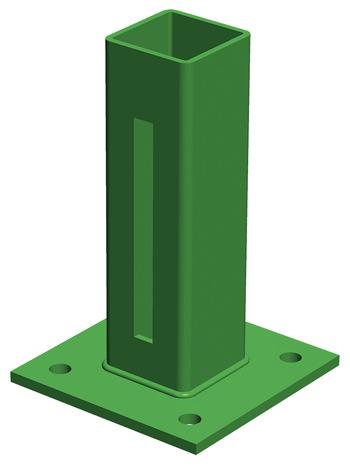 Platine En Acier Galvanise Vert Mousse Pour Poteau De Grillage
