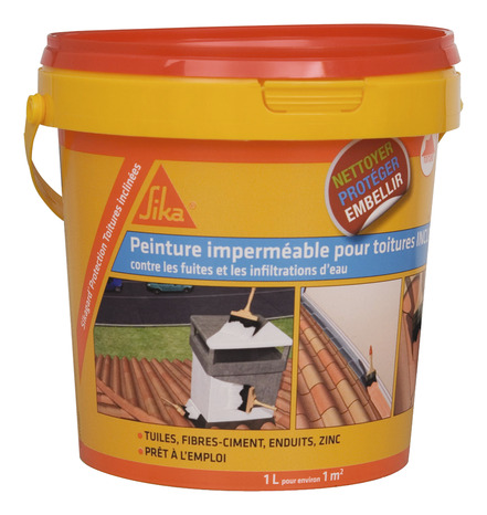 Peinture Elastique Impermeable Ton Terre Cuite Pour Tuiles Ardoises Zinc Et Pvc 1 L Brico Depot