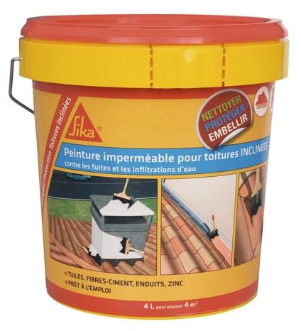 Peinture Elastique Impermeable Blanche Pour Tuiles Ardoises Zinc Et Pvc 4 L Brico Depot