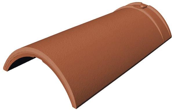 Fa ti re pureau variable double embo tement rouge klinker ep 73 mm brico d p t - Tuile faitiere brico depot ...