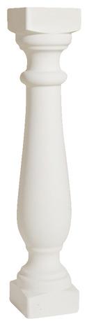 balustre blanc h 65 cm section 12 x 12 cm brico d p t. Black Bedroom Furniture Sets. Home Design Ideas
